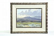 LANDSCAPE BY BILL FREEMAN (AMERICAN, 1927-2012).