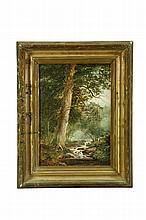 LANDSCAPE BY MICHAEL HANNAFORD (CANADA, 1832-1891).