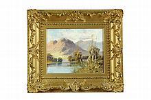 LANDSCAPE BY ALDRED JONES (AMERICAN, 1819-1900).