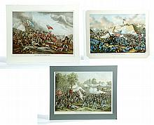 THREE WAR SCENES BY KURZ & ALLISON.