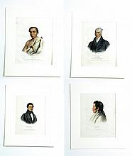 FOUR PRINTS OF AMERICAN INDIANS.