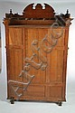CARVED VICTORIAN CABINET.