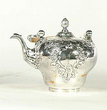 VICTORIAN STERLING HOT WATER KETTLE.