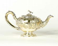 VICTORIAN SILVER TEAPOT.