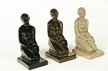 THREE ROOKWOOD FIGURES.