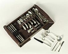 SET OF STERLING SILVER FLATEWARE.