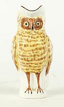 IRONSTONE OWL PITCHER.
