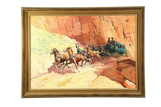 STAGECOACH BY ROBERT WESLEY AMICK (CONNECTICUT, 1879-1969).
