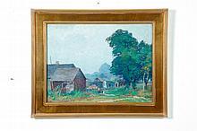 FARMSTEAD BY GEORGE RENOUARD (NEW YORK, 1885-1954),