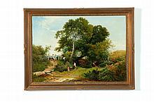 BERRY PICKERS BY HENRY JOHN BODDINGTON (UNITED KINGDOM, 1811-1865).