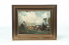 LANDSCAPE BY DOUGLAS ARTHUR TEED (MICHIGAN, 1864-1929).