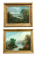 TWO LANDSCAPES (AMERICAN SCHOOL, LATE 19TH-EARLY 20TH CENTURY).