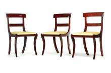 SET OF SIX AMERICAN CLASSICAL CHAIRS.