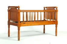 AMERICAN CLASSICAL CRIB OR CHILD'S BED.