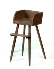 AMERICAN PLANK SEAT HIGHCHAIR.