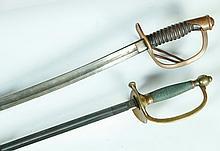 TWO CIVIL WAR ERA SWORDS.