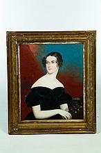 FRAMED OIL ON CANVAS PORTRAIT OF A LADY.