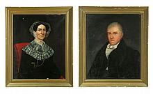 TWO PORTRAITS, ONE SIGNED ISAAC A. WETHERBEE (MASSACHUSETTS / IOWA, 1819-1904).