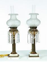 PAIR OF SOLAR LAMPS.