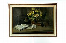 FRAMED STILL LIFE BY ROBERT J. SMITH (OHIO, 1901-1985).