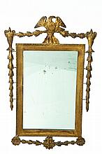 FEDERAL MIRROR WITH EAGLE CREST.