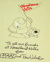 COLLECTION OF AUTOGRAPHS INCLUDING CARTOONISTS, ILLUSTRATORS, AND CELEBRITY ART.