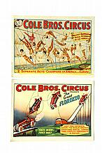 GROUPING OF FIFTY CIRCUS POSTERS.