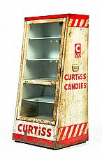 CURTISS TIN CANDY DISPLAY CABINET.