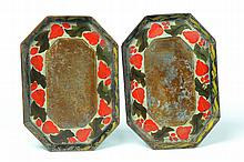 PAIR OF TOLE TRAYS.