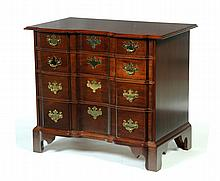 CHIPPENDALE STYLE BLOCK FRONT CHEST.