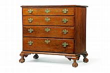 AMERICAN CHIPPENDALE CHEST OF DRAWERS.