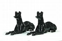 PAIR OF AMERICAN CAST IRON WHIPPETS.