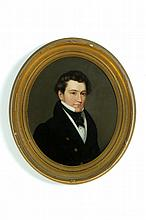PORTRAIT OF A GENTLEMAN (AMERICAN SCHOOL, 2ND QUARTER-19TH CENTURY).
