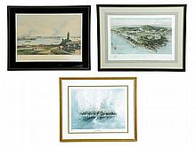 THREE AMERICAN PRINTS OF WEST POINT AND NEW YORK.