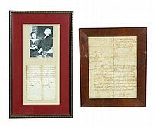 TWO 18TH-CENTURY AMERICAN DOCUMENTS.