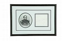 AUTOGRAPHED NOTE SIGNED BY GENERAL WINFIELD SCOTT.