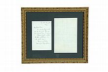 AUTOGRAPH LETTERS SIGNED BY HENRY WORDSWORTH LONGFELLOW AND JOHN GREENLEAF WHITTIER.