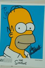 COLLECTION OF TELEVISION AUTOGRAPHS FEATURING SEINFELD AND THE SIMPSONS.