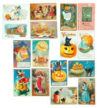 COLLECTION OF HALLOWEEN POSTCARDS.