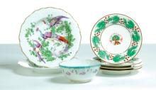 SEVEN PIECES OF ENGLISH CHINA.