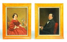PAIR OF FRAMED PORTRAITS.