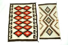 TWO NAVAJO RUGS.