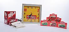 DR PEPPER CLOCK AND COLLECTIBLES.