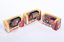 THREE DR. PEPPER TOY TRUCKS.