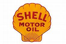SHELL MOTOR OIL ADVERTISING SIGN.