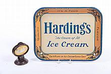 TWO ICE CREAM ADVERTISING ITEMS.