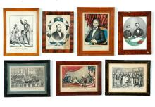 SEVEN AMERICAN PRINTS OF ABRAHAM LINCOLN.