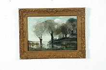 LANDSCAPE IN THE STYLE OF JEAN BAPTISTE CAMILLE COROT (FRANCE, 1796-1875).