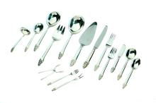 GORHAM STERLING SILVER FLATWARE SERVICE IN THE SOVEREIGN PATTERN.