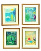 FOUR PRINTS BY MARC CHAGALL (FRANCE/RUSSIAN, 1887-1985).